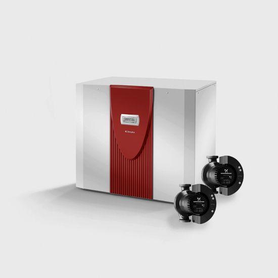 Реверсивный грунтовой тепловой насос с 2 компрессорами SI 35TUR