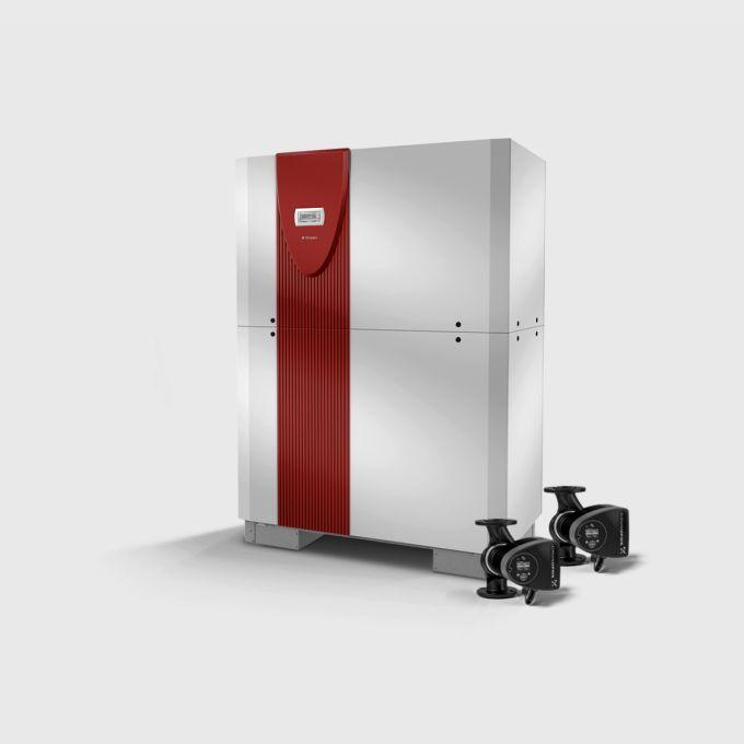 Реверсивный грунтовой тепловой насос с 2 компрессорами SI 70TUR