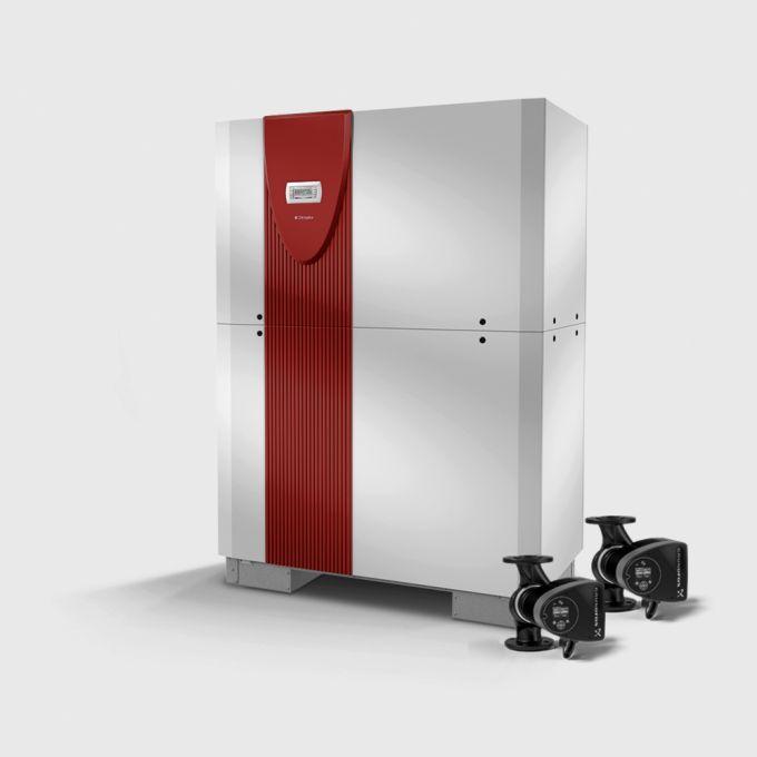 Реверсивный грунтовой тепловой насос с 2 компрессорами SI 70TUR_2