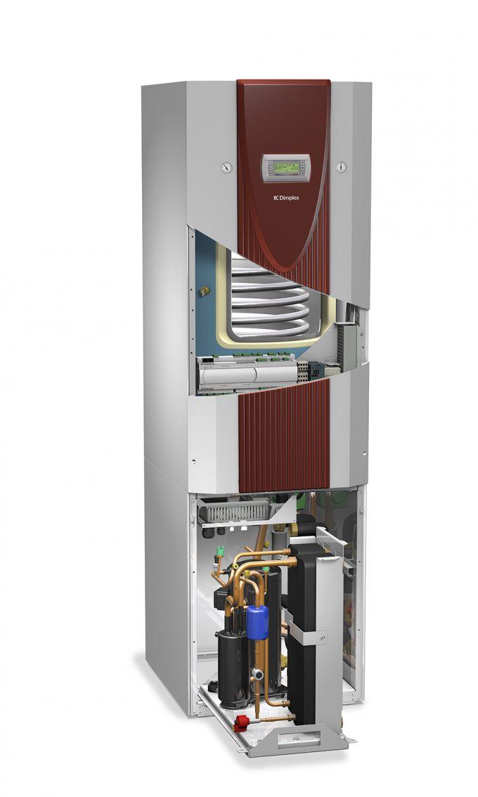 Компактный грунтовой тепловой насос с 1 компрессором и баком ГВС SIW 8TES_3
